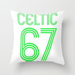 Celtic 67, the Lions of Lisbon Throw Pillow