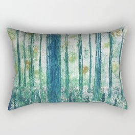 Collagraph print- enchanted forest Rectangular Pillow