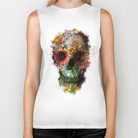 is the new black Biker Tanks featuring SKULL 2 by Ali GULEC
