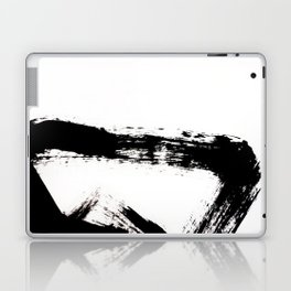 Brushstroke [8] - a simple, abstract, black and white india ink piece Laptop & iPad Skin