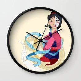 Mulan: Reflection Wall Clock
