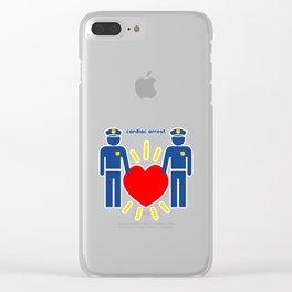 Cardiac Arrest Clear iPhone Case