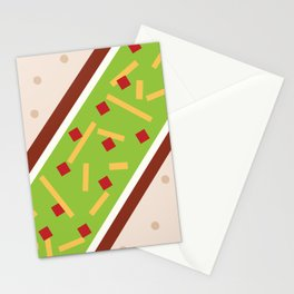Minimalistic Mexican Taco Stationery Cards
