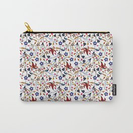 Mughal Motif Peacock Carry-All Pouch