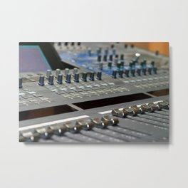 Mixing Console Metal Print