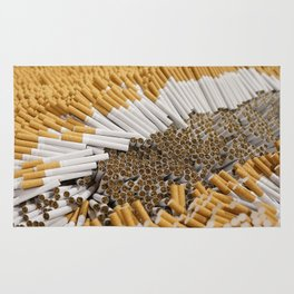Cigarettes Background Rug