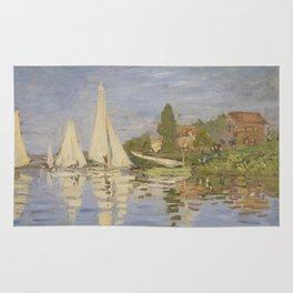 Claude Monet Regattas at Argenteuil Rug