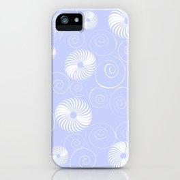 White Spirals iPhone Case
