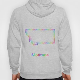 Rainbow Montana map Hoody