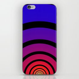 Blue, Red, and Yellow Circles iPhone Skin