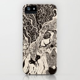 Entanglement (Untitled Face II) iPhone Case