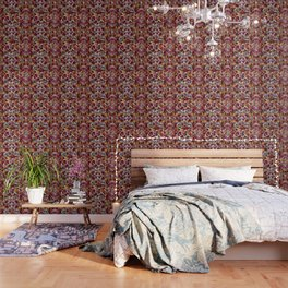 Summer Robin Floral Wallpaper