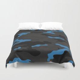 Blue camouflage Duvet Cover