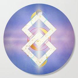 Linked Lilac Diamonds :: Floating Geometry Cutting Board