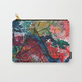 Swirls and Splatters Carry-All Pouch