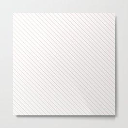 Rose Quartz Stripe Metal Print
