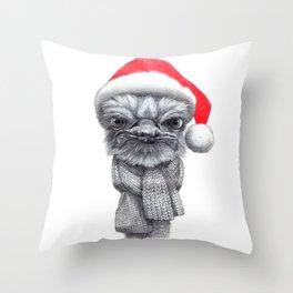 Christmas Ostrich red G145 Throw Pillow