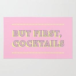 Pastel Pink Party Cocktails Rug