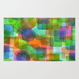 Befriended Squares and Bubbles Rug