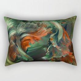 """""""Betta splendens Deep water (Siam fighter)"""" Rectangular Pillow"""