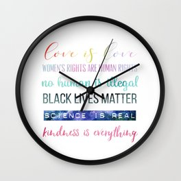In This House We Believe... Resistance Art, Political Art Wall Clock