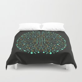 Brain Tech Duvet Cover
