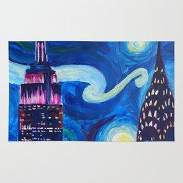 Starry Night in New York - Van Gogh Inspirations in Manhattan Rug