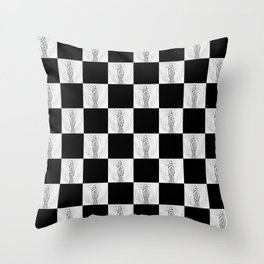 Checkerboard Pussy Throw Pillow