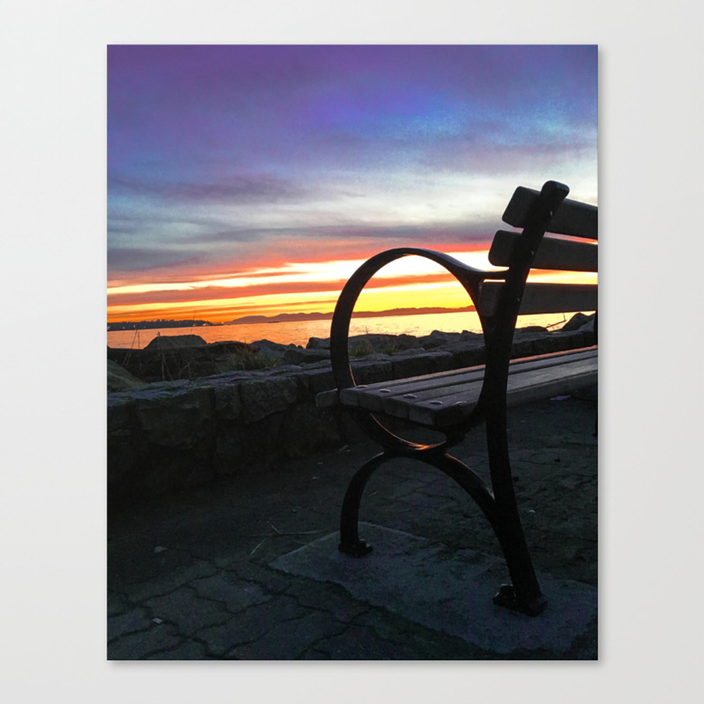 Bench At The Beach Canvas Print by Taniaryanphoto CNV8874782