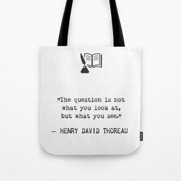 Henry D. Thoreau Tote Bag