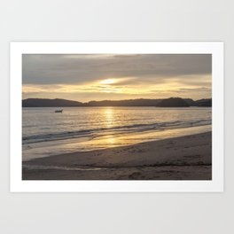 Sunset at Ao Nang beach Art Print