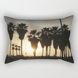 Sunset at Venice Beach Rectangular Pillow