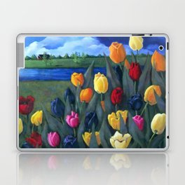 Dutch Tulips, Bright Colorful Flower Painting Laptop & iPad Skin