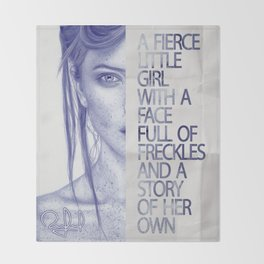 Fierce little girl Throw Blanket