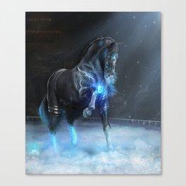 Frozen Flames Canvas Print