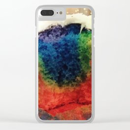 Tie Dye Cupcake Clear iPhone Case