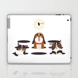 Cute Cats Dogs on Sunny Day Laptop & iPad Skin