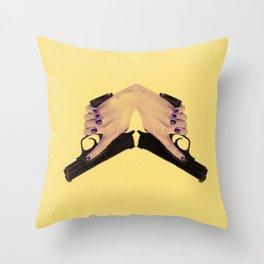 Gunning for you Throw Pillow
