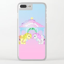 g1 my little pony snuzzle and butterscotch Clear iPhone Case