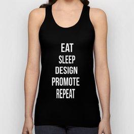 Eat Sleep Design Promote Repeat Unisex Tank Top