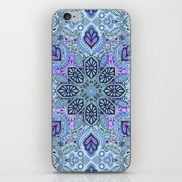 Navy Blue, Mint and Purple Boho Pattern  iPhone Skin