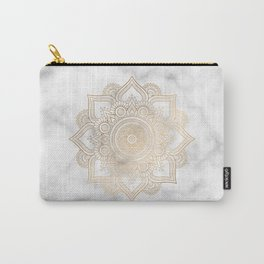 Marble Gold Mandala Design Carry-All Pouch