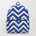 blue, white zig zag pattern design by ohaniki