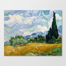 Wheat Field with Cypresses - Vincent van Gogh Canvas Print