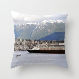 Vancouver Harbour - Canada Throw Pillow