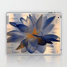 Midnight Blue Polka Dot Floral Abstract Laptop & iPad Skin