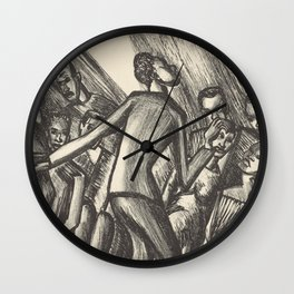 Spirituals by Lillian Richter Wall Clock