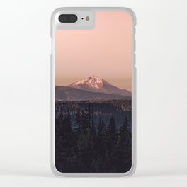 Mountain Morning IV Clear iPhone Case