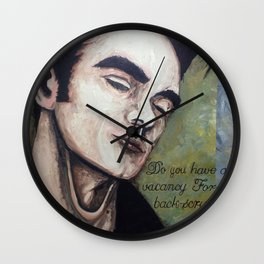Back-scrubber Wall Clock