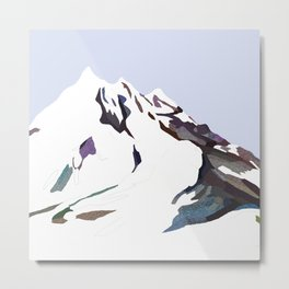 Mountains In The Cold Design Metal Print